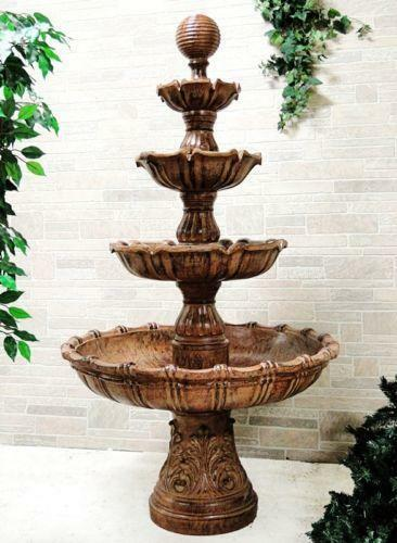 Large Outdoor Water Fountain Ebay