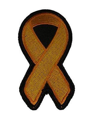 ORANGE RIBBON FOR LEUKEMIA AND MULTIPLE SCLEROSIS AWARENESS PATCH](Leukemia Awareness Ribbon)