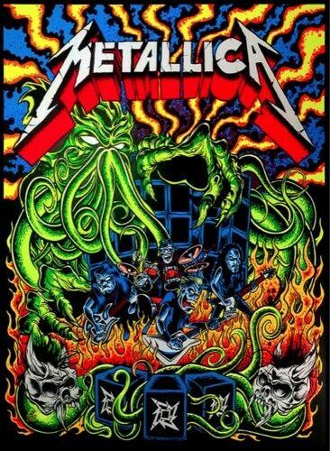 Metallica Ktulu Rise Poster Silkscreen Dirty Donny Sold Out! Blacklight Inhand
