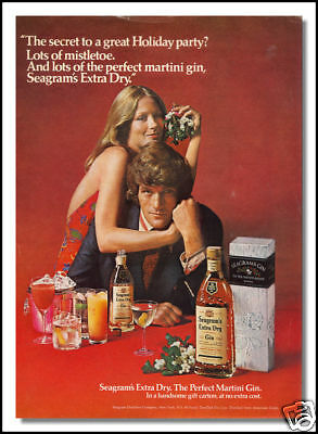 1973 Seagrams Gin collectible beverage print ad