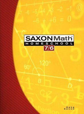Saxon Math 7/6: Homeschool Edition Student Text by SAXON
