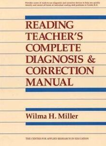 Reading Teacher's Complete Diagnosis and Correction Manual, Miller, Wilma H., 08