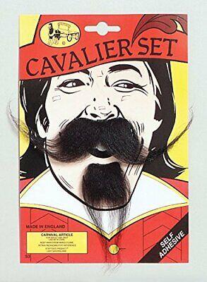 valier Französisch Musketier Kostüm Schnurrbart Bart (3 Musketiere Kostüme Erwachsene)