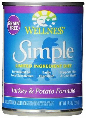 Wellness Simple Natural Limited Ingredient Wet Canned Dog Food, Turkey and Potat