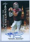 Leaf Autographed Football Trading Cards Johnny Manziel