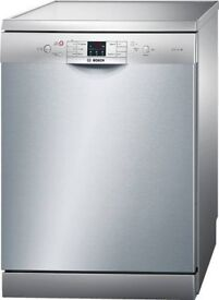 Bosch Dishwasher Nearly New Fully Featured Freestanding A++ 13 place setting Stainless Steel