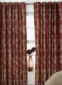 Black And Gold Ring Top Curtains