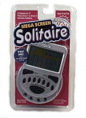 Mega Screen Solitaire Game Electronic Handheld Draw Klondike Travel Games
