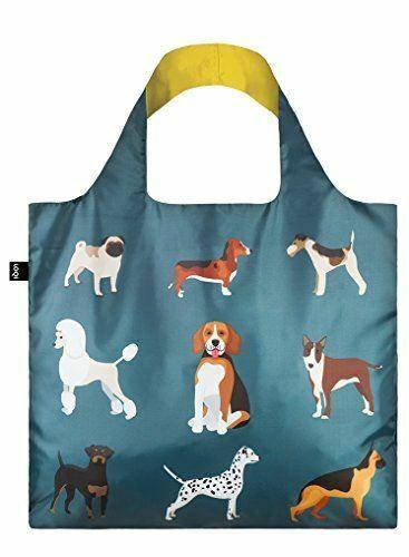 LOQI Cats & Dogs Woof Reusable Shopping Bag