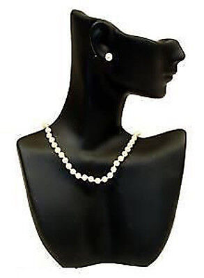 Black Mannequin Pendant Necklace Displays Jewelry Bust