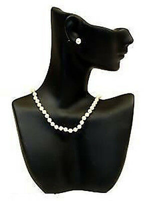 Black Mannequin Pendant Necklace Displays Jewelry Bust