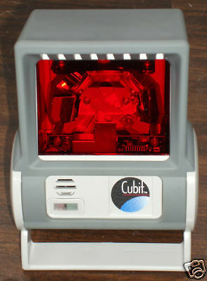 Honeywell Metrologic Cubit Ms6520 Serial Rs232 Ltpn Barcode Scanner W Stand