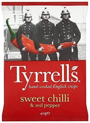 Tyrrell's Sweet Chilli & RED Pepper Potato Chips 40g (Pack of 24)