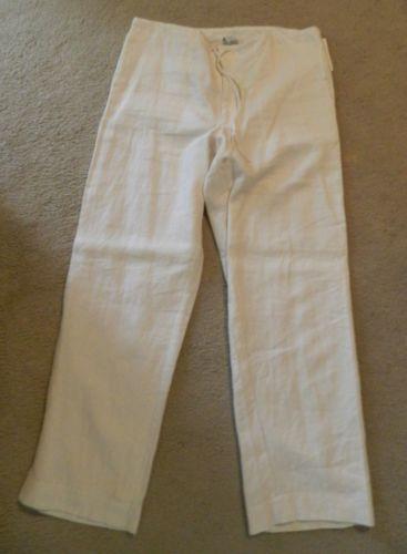 Gap White Linen Pants Ebay