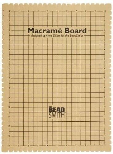 "Macrame Making Tool Board Self Healing 10"" x 14"" Grid Multi-Cord Notched Craft"