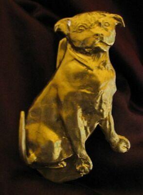 STAFFORDSHIRE BULL TERRIER, STAFFIE Solo Door Knocker in Bronze