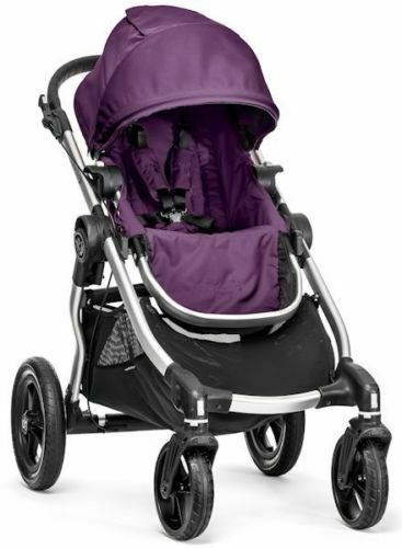 Baby Jogger City Select All Terrain Single Stroller Silver Frame Amethyst