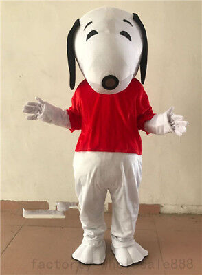 Snoopy dog movie outfit dress cos Bithday party game Mascot Costume Adult (Movie Dog Kostüm)