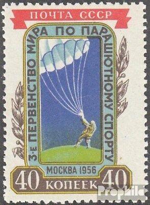 Sovjet-Unie 1863 (compleet.Kwestie.) met Fold 1956 Parachutespringen WM