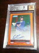2012 Bowman Chrome Orange Auto