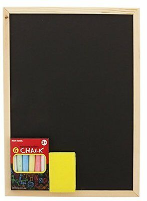 Chalkboard Set Includes Colorful Chalk, Board, and Eraser School Play Restaurant