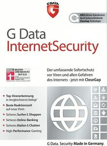 G DATA Internet Security 3 PC 2014 2013 VOLLVERSION Upgrade Antivirus GDATA 2012