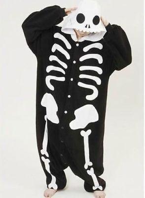 Skeleton Onesie1 Kigurumi Fancy Dress Costume Hoodies Adult Cosplay Pajamas UK
