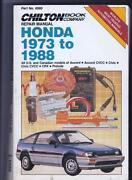 Chilton Repair Manual Honda