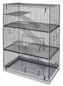 LAZY BONES NEW IN BOX 4 TIER CAGE FOR CHINCHILLA, RAT, ETC RRP £90
