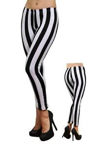 da386d4c3c5482 Black and White Striped Leggings