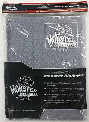 HOLOFOIL WHITE/CLEAR Monster Binder Side-Loading 9-Pocket Card Album/Portfolio