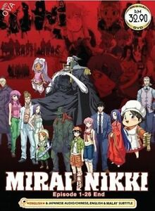 DVD Japan Anime Mirai Nikki The Future Diary Series Vol 1-26+OVA Eng Dubbed