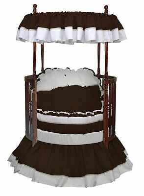 Baby Doll Bedding Regal Round Crib Bedding, Chocolate Round Crib Bedding Sets