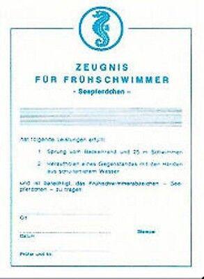"""Grevinga® FUN Frühschwimmerzeugnis / Urkunde """"Seepferdchen"""" 126075"""
