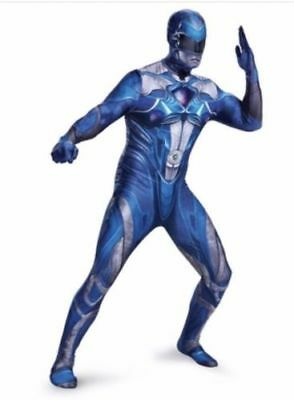 Adult Power Rangers Costume Halloween Blue Cosplay Comic Con Mens M 38-40 New