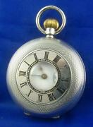 Antique Silver Half Hunter Pocket Watch