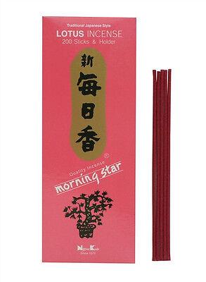 Japanese Nippon Kodo Morning Star Lotus Incense 200 Sticks with Incense Holder