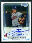 Francisco Lindor Bowman Chrome Auto