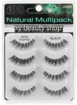 Ardell Demi Wispies MultiPack Black 4 Pairs Fashion Lash False Lashes 61494