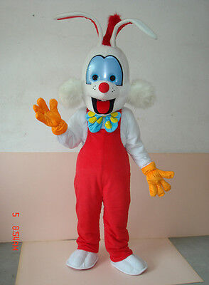 Roger Rabbit Halloween Costumes (Halloween Roger Rabbit Mascot Costume Suits Adults Cosplay Party)