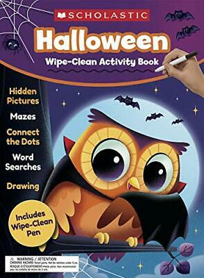 Halloween Teachers Resources (NEW - Halloween Wipe-Clean Activity Book by Scholastic Teacher)