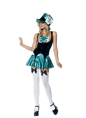 Sexy Mad Hatter Tea Party Hostess Costume Size XS (Mad Hatter Tea Party Costume)