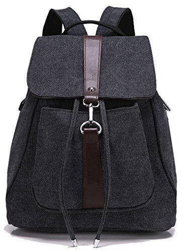 Greeniris Ladies Backpack Causal Schoolbag Drawstring Rucksack Travel Tote for