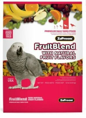 Zupreem Fruit Blend Medium Large  Parrot African Conure  Diet bird Food 2lb