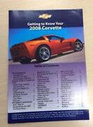 Corvette Owners Manual