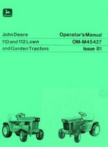 john deere 110 manual ebay