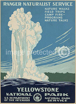 Yellowstone National Park Wpa Vintage Travel Poster 18x24