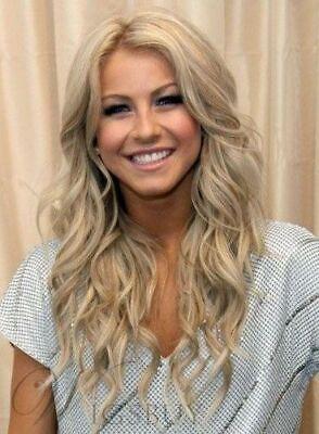 Wie Echthaar Natürliche Mode Damen Blonde Lang Gewellt Synthesis Perücken  Wig