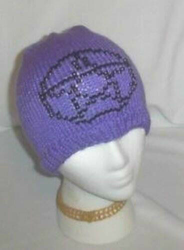 Hand Knit ~ Beaded Beanie Hats ~ Pentacle - Made to Order