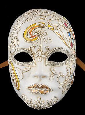 Mask Venice Face Volto Primavera Paper Mache Gold Embellishment 1763 Vg1